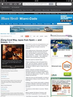 Artículo Online del Miami Herald 2013