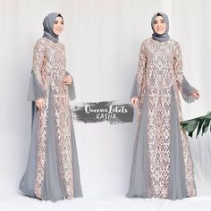 Pre Order KASHA Dress + Pashmina By Queenalabels . Hijab Skirt, Hijab Abaya, Hijab Dress Party, Hijab Style Dress, Batik Fashion, Abaya Fashion, Muslim Fashion, Dress Brokat, Kebaya Dress