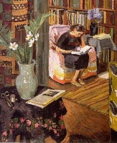 Vanessa Bell, Interior with artist's daughter