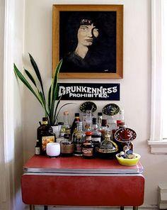 Un mini bar muy chic