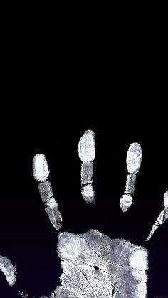 White Handprint on Black Wallpaper Black And White Wallpaper, Dark Wallpaper, Tumblr Wallpaper, Screen Wallpaper, Mobile Wallpaper, Wallpaper Backgrounds, Iphone Wallpaper, Cellphone Wallpaper, Phone Backgrounds