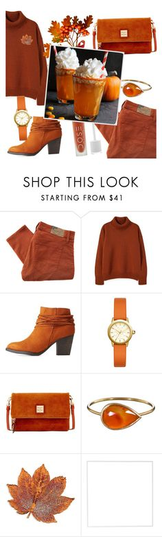"""""""Pumpkin spice"""" by fashion-film-fun ❤ liked on Polyvore featuring Denim & Supply by Ralph Lauren, Bamboo, Tory Burch, Dooney & Bourke, Solow, Menu, pumpkinspice and fall2017"""