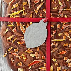 Candied orange peel, dark chocolate, and chopped chocolate-covered coffee beans make this simple bark a favorite. Make the sweet treat early in the busy holiday season, and store it for up to two weeks.