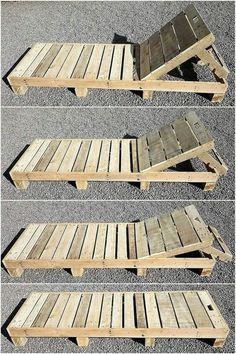 Diese Holzpaletten-Sonnenliege ist ein einfaches aber das attraktivste Holzpalet… This wooden pallet sun lounger is a simple but the most attractive wooden pallet project. You can see this beautiful artwork on the corner d Diy Projects Outdoor Furniture, Outdoor Pallet Projects, Pallet Garden Furniture, Furniture Ideas, Garden Pallet, Wood Projects, Furniture Stores, Cheap Furniture, Furniture From Pallets