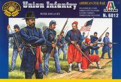 ITA-6012 Union Infantry- 2012 Reissue     50 Figures in 15 Different Poses