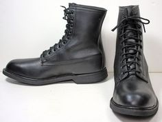 NWOB pair of Men's Wolverine Black Leather Steel Toe Work Boots sz 12 R #Wolverine #WorkSafety
