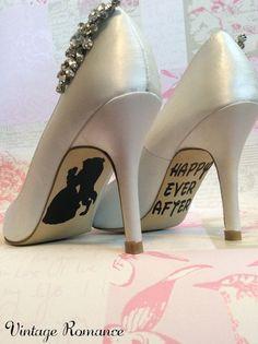 Disney novia día zapato vinilo único las etiquetas / etiquetas engomadas de la belleza y la bestia bella