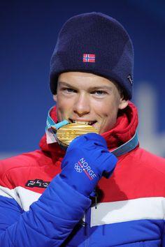 CROSS-COUNTRY SKIING MEN'S SPRINT CLASSIC: Gold medalist Johannes Hoesflot Klaebo of Norway