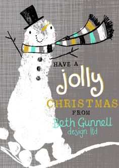 My business christmas card...using baby Bertie's painted foot print!