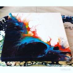 Acrylic Pouring Art, Acrylic Art, Diy Canvas Art, Abstract Canvas, Flow Painting, Pour Painting, Diy Painting, Painting Techniques, Harry Potter
