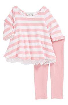 Stripe top and leggings Nordstrom