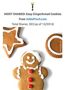 Eaters Choice Award: The MOST SHARED Gingerbread Cookie Recipes across social media