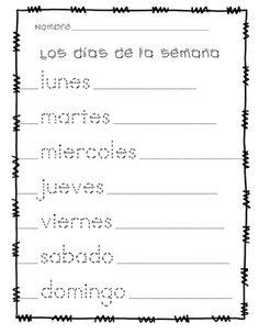 Days of the Week in Spanish (Días de la semana)