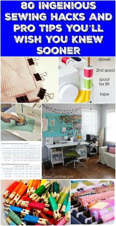 80 Ingenious Sewing Hacks and Pro Tips You'll Wish You Knew Sooner! These sewing hacks will make your crafting so much easier! You will find tips for organization, ease, and more! If you love to sew then you need to know these tips and tricks! Sewing Hacks, Sewing Tutorials, Sewing Crafts, Sewing Tips, Diy Crafts, Sewing Blogs, Sewing Ideas, Techniques Couture, Sewing Techniques