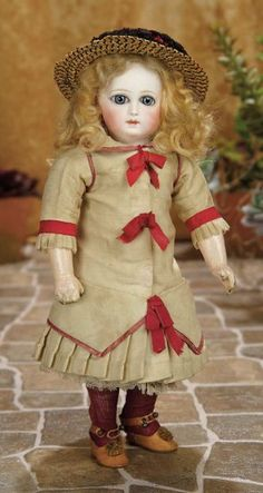 "French Bisque Premiere Bebe by Emile Jumeau, Size 3/0, So-Called ""Wrap-Around"" Eyes 3500/4500 