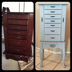 Painting Distressing a Jewelry Armoire Armoires Paint furniture