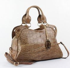 Cartier Handbags, Cartier Marcello De Cartier Crocodile Leather Handbag 1000625 Kh-$343