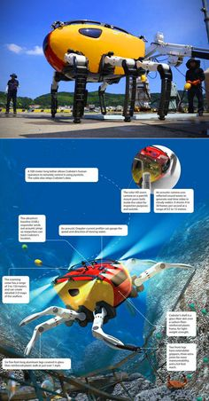The Crabster CR200 can operate where divers cannot reach.      The robot was created bythe Korean Institute of Ocean Science and Technology (KIOST