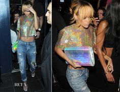 Rihanna In Stella McCartney - Boujis Nightclub - Red Carpet Fashion Awards