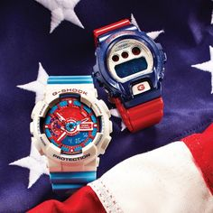 Red, white and blue! #gshock