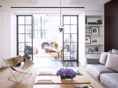 Step Inside a Soaring New York Home//architecture, family room, neutral decor