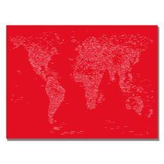 Michael Tompsett 'Font World Map II' Art