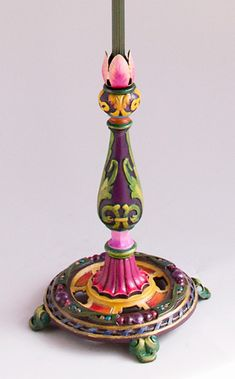 Hot Pink Bohemian Victorian Lampshade Base