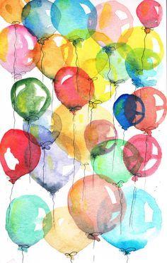 watercolor balloons - Google Search
