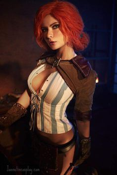 """cosplayheaven69: """" Cosplayer: Jannet Vinogradova. Country: Russia. Cosplay: Triss Merigold from The Witcher 2: Assassins of Kings. https://m.facebook.com/Jannetcosplay/ """""""
