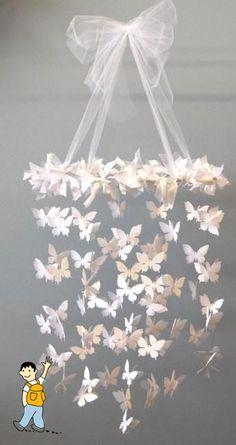 Decoración mariposas primera comunión.