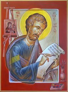 St Luke the Evangelist- By G. Byzantine Icons, Byzantine Art, Luke The Evangelist, True Bride, Jesus Christus, Best Icons, Orthodox Icons, Religious Art, St Luke