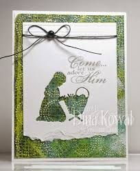Image result for card made with impression obsession nativity