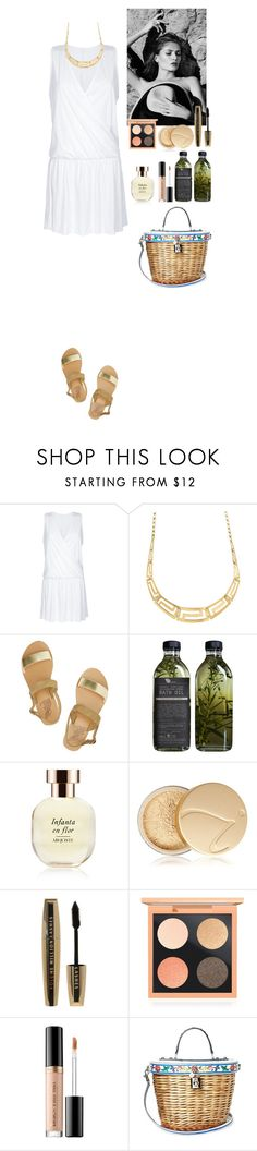 """""""Vacation in Greece"""" by eliza-redkina ❤ liked on Polyvore featuring Ancient Greek Sandals, Reiss, AMBRE, Arquiste Parfumeur, Jane Iredale, L'Oréal Paris, MAC Cosmetics, Too Faced Cosmetics, Dolce&Gabbana and outfit"""