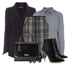 """""""Office outfit: Gray - Black"""" by downtownblues ❤ liked on Polyvore featuring Drykorn"""