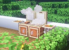 minecraft ideas furniture & minecraft ideas ` minecraft ideas houses ` minecraft ideas furniture ` minecraft ideas to build ` minecraft ideas survival ` minecraft ideas town ` minecraft ideas houses easy ` minecraft ideas furniture bedrooms Craft Minecraft, Minecraft Kitchen Ideas, Minecraft Garden, Easy Minecraft Houses, Minecraft Plans, Minecraft Room, Amazing Minecraft, Minecraft Decorations, Minecraft Construction