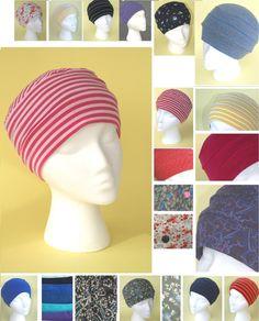 Soft jersey cotton chemo hat (S/M/L) (alopecia, headwear, cap, hairloss, cancer)