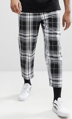 On my wish list : Reclaimed Vintage Inspired TALL Relaxed Cropped Trouser In Check from ASOS #ad #men #fashion #shopping #outfit #inspiration #style #streetstyle #fall #winter #spring #summer #clothes #accessories