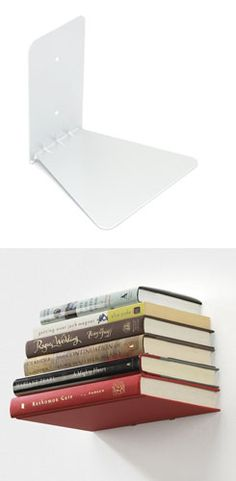 Invisible Bookshelf - This is what I need albeit a large sized one for my entire collection of books.. :)