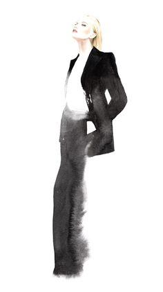 Fashion Illustration Design Stella McCartney Fall Winter commissioned work by JOYCE - Illustration Mode, Fashion Illustration Sketches, Fashion Sketchbook, Fashion Sketches, Art Illustrations, Arte Fashion, Fashion Moda, Trendy Fashion, Ideias Fashion