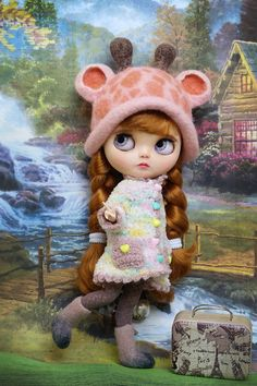 "PF Shoes 12/"" Neo Blythe Doll Takara Doll Trend Pink Plush Boots"