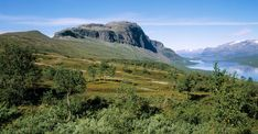 Mäktiga fjälltoppar, glaciärer och skogar med björkar och tallar. Foto: Tor L. Tuorda, IBL Bildbyrå