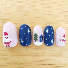 Simple Easy Christmas Nail Acrylic Arts Designs – Page 2 Christmas Nail Art, Simple Christmas, Acrylic Art, Acrylic Nails, Navidad Simple, Bright Red Nails, Design Page, Scary Decorations, Types Of Nails