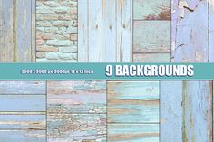 Shabby wood and brick wall texture by Area on @creativemarket