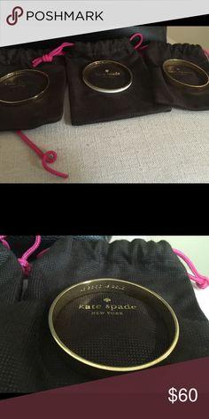 "Kate Spade bangle ""good as gold"" Set of three $60/ea cutest sayings! kate spade Jewelry Bracelets"