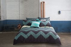 The Home has landed at Catch! Online homewares at Australia's favourite place to shop - discover modern furniture and beautiful bedding for less. Screamin' good deals on The Home modern furniture and more! Quilt Cover Sets, Quilt Sets, Grey Quilt, Eclectic Decor, Beautiful Bedrooms, Zig Zag, Linen Bedding, Modern Furniture, Pillow Cases