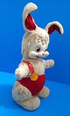Rushton Star Creations Bunny Rabbit Plush Stuffed Animal Rubber Face Toy Doll