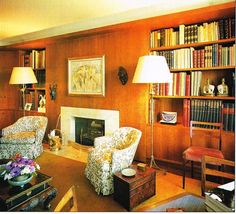 Nelson Rockefeller Fifth Avenue Residence - library Interior Architecture, Interior Design, Home Libraries, Retro Home, Pent House, Art Of Living, Home Office, Art Deco, House Styles