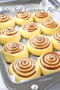 This Super Soft Cinnamon Rolls Recipe is incredibly fluffy, moist, and irresistible. It is proven to be a no-fail go-to recipe that is loved by everyone! Best Cinnamon Roll Recipe, Cinnamon Rolls From Scratch, Best Cinnamon Rolls, Sweet Roll Dough Recipe, Homemade Cinnamon Rolls, Soft Rolls Recipe, Donut Recipes, Baking Recipes, Cake Recipes