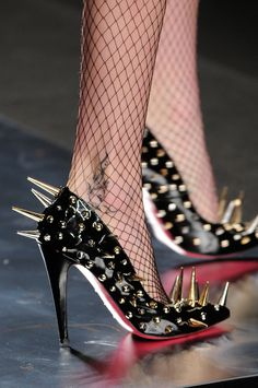 Frankie Morello ~ Milan Fall 2012  you would have to be careful how you sat -no crossed ankles etc!!