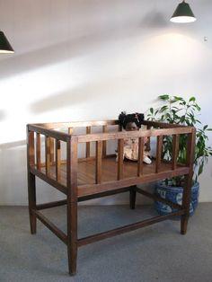 【アンティーク 古道具 JIKOH】レトロ ジャパン ヴィンテージ 木製ベビーベッド【楽天市場】